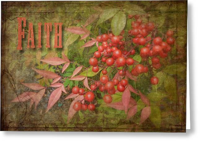 Faith Spring Berries Greeting Card by Cindy Wright