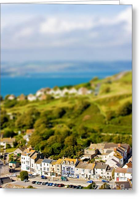 Miniature Effect Greeting Cards - Fake toy village view Greeting Card by Simon Bratt Photography LRPS