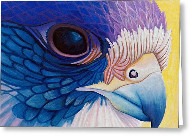 Falcon Greeting Cards - Falcon Medicine Greeting Card by Brian  Commerford