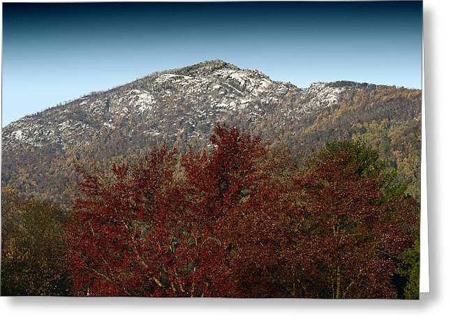 Ragged Peaks Greeting Cards - Fall Arrives at Old Rag Mountain - Virginia Greeting Card by Brendan Reals