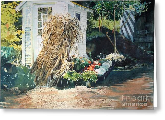 Elizabeth Carr Greeting Cards - Fall at Ivy Corners Greeting Card by Elizabeth Carr
