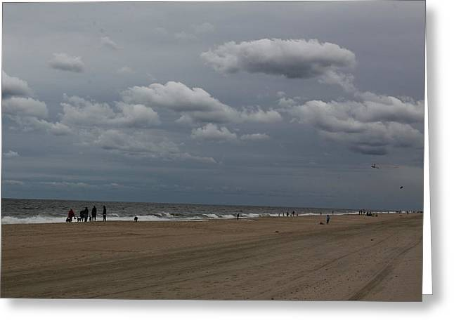 Forboding Greeting Cards - Fall Beach Greeting Card by Jim Vansant