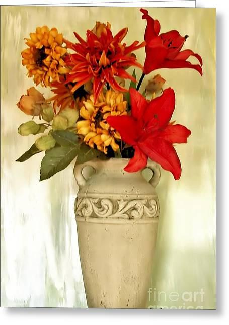 Fall Photos Digital Art Greeting Cards - Fall Bouquet Greeting Card by Marsha Heiken