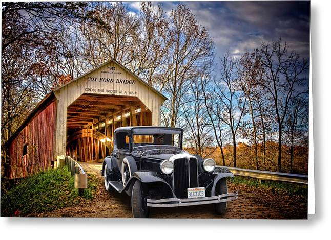 Slammer Greeting Cards - Fall Country Drive Greeting Card by Bill Dutting