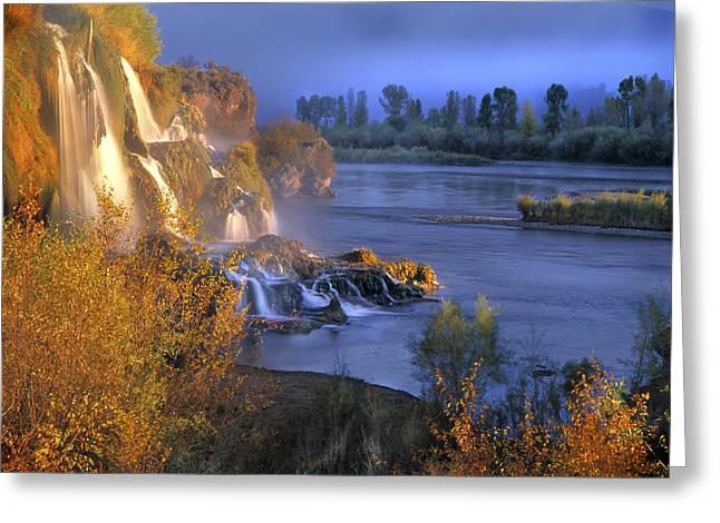 Fall Creek Greeting Cards - Fall Creek Autumn Greeting Card by Leland D Howard