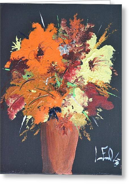 Organe Greeting Cards - Fall Flower Arrangement 1 Greeting Card by Leo Gordon
