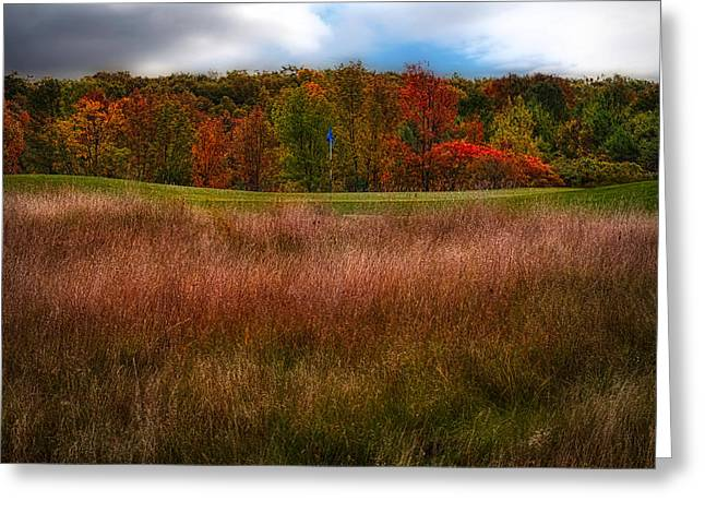 Wisconsin Golf Greeting Cards - Fall Golf Greeting Card by Jarrod Erbe