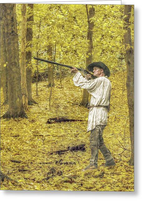 Citizens Greeting Cards - Fall Hunt Greeting Card by Randy Steele