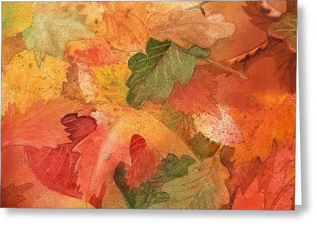 Maple Season Paintings Greeting Cards - Fall Impressions II Greeting Card by Irina Sztukowski