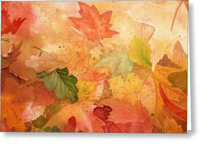 Maple Season Paintings Greeting Cards - Fall Impressions IV Greeting Card by Irina Sztukowski