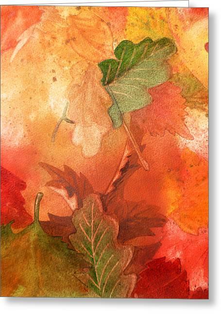 Maple Season Paintings Greeting Cards - Fall Impressions V Greeting Card by Irina Sztukowski