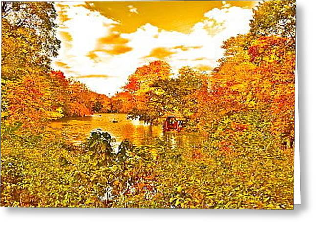 Newyorkcity Greeting Cards - Fall in Central Park Greeting Card by Joe  Burns