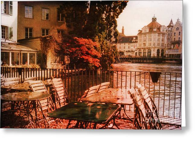 Architectur Greeting Cards - Fall in Lucerne Switzerland Greeting Card by Susanne Van Hulst