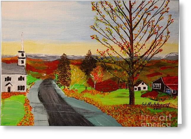 Bill Hubbard Greeting Cards - Fall in New Hampshire Greeting Card by Bill Hubbard