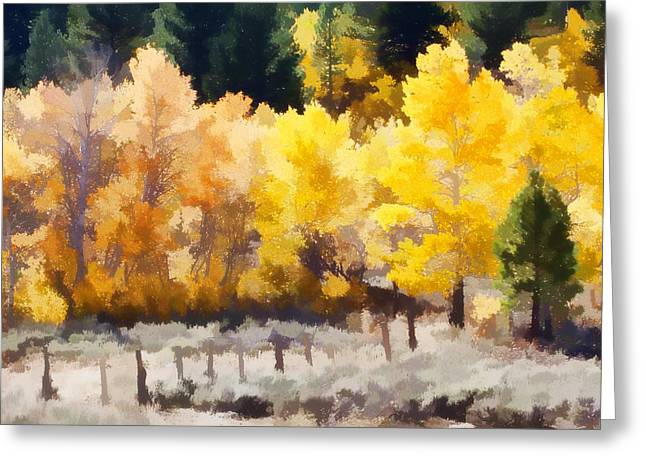 Brown Leaf Greeting Cards - Fall in the Sierra Greeting Card by Carol Leigh