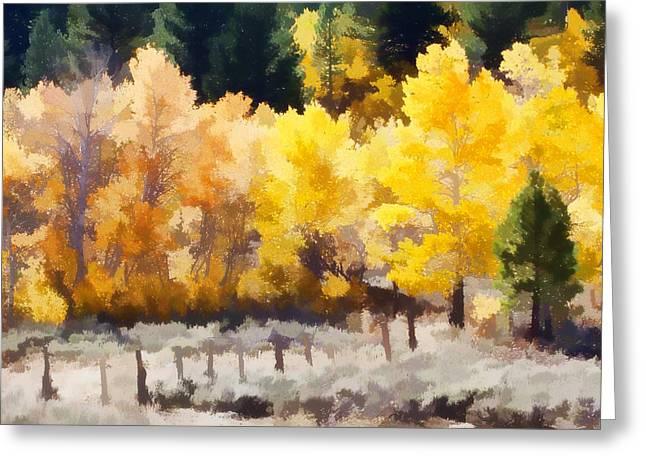 Fall In The Sierra Greeting Card by Carol Leigh