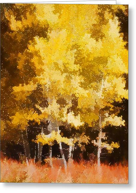 Brown Leaves Greeting Cards - Fall in the Sierra II Greeting Card by Carol Leigh