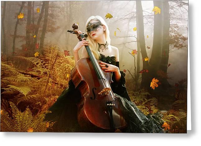 Fall Melody Greeting Card by Karen H