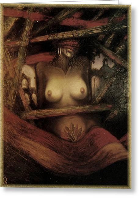 Fall Of Man Greeting Card by Galeria Rossmore