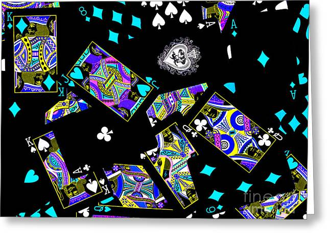 Fall of The House of Cards Greeting Card by Wingsdomain Art and Photography