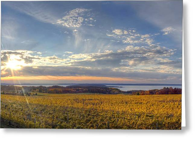 Traverse City Greeting Cards - Fall on Old Mission Peninsula Greeting Card by Twenty Two North Photography