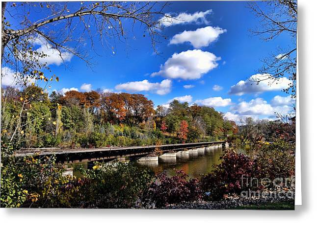Appleton Wi Greeting Cards - Fall on the Tracks Greeting Card by Craig Ebel