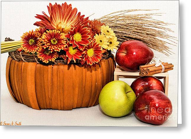 Fall Pleasures Greeting Card by Susan Smith