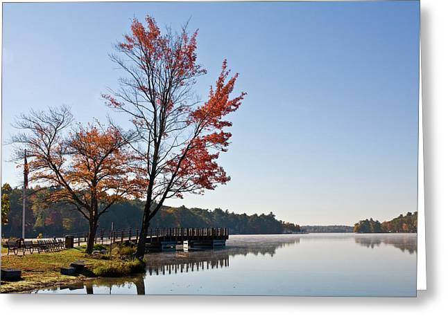 Southwick Greeting Cards - Fall Reflection Greeting Card by Warren Carrington