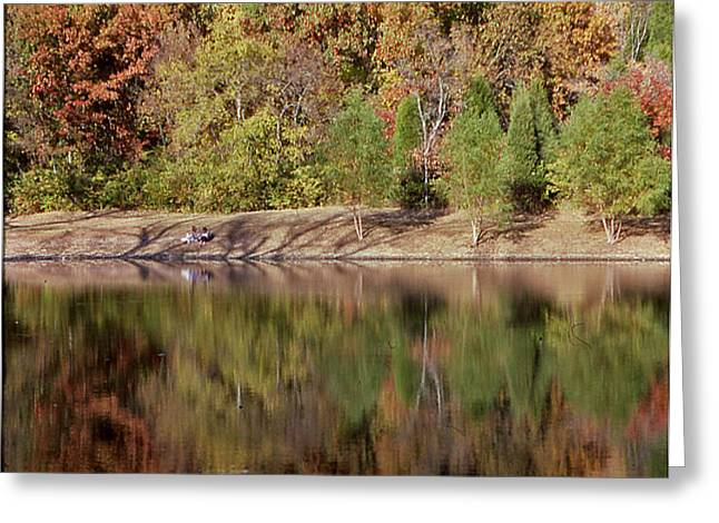 Fall Reflections - 1 Greeting Card by Randy Muir