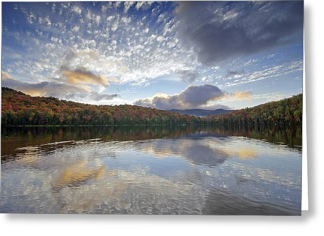 Adirondack Park Greeting Cards - Fall Reflections at Heart Lake in Adirondack Park- New York Greeting Card by Brendan Reals