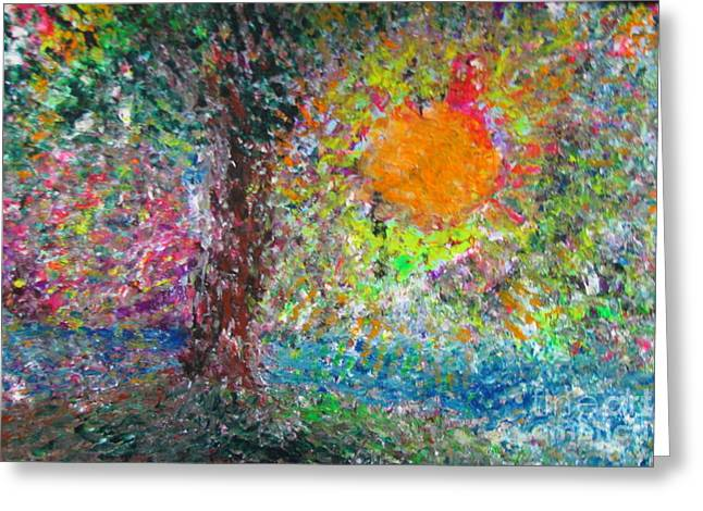 Congressman Paintings Greeting Cards - Fall Sun Greeting Card by Jacqueline Athmann