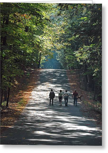 Rj Martens Greeting Cards - Fall Walk Greeting Card by RJ Martens