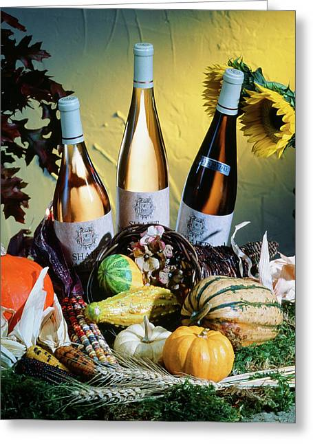 Vintner Greeting Cards - Fall Wines Greeting Card by Eric Tworivers