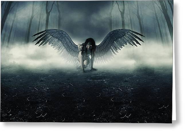 Fallen Angel Greeting Card by Ryan Shaffer
