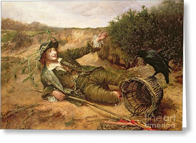 Peasant Greeting Cards - Fallen by the Wayside Greeting Card by Edgar Bundy
