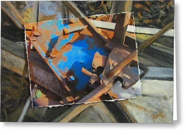 Junk Mixed Media Greeting Cards - Fallen Junk Greeting Card by Anita Burgermeister