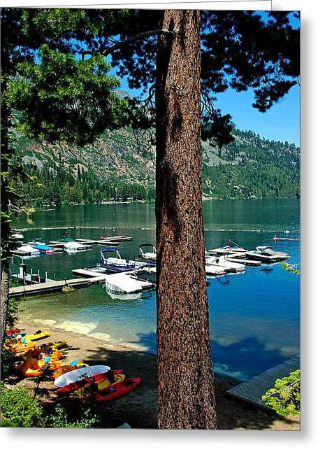 Angora Lakes Greeting Cards - Fallen Leaf Lake Lake Tahoe Greeting Card by LeeAnn McLaneGoetz McLaneGoetzStudioLLCcom