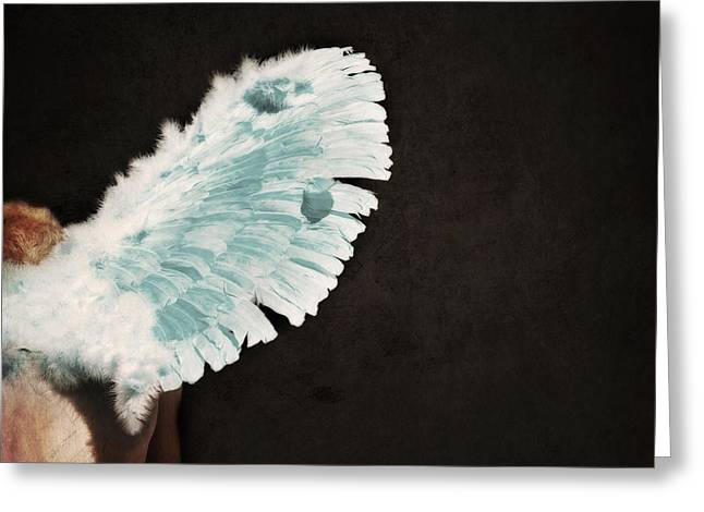 Fallen Angels Greeting Cards - Fallen Greeting Card by Lisa Knechtel