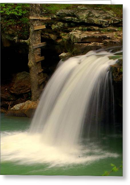 Falling Water Falls Greeting Cards - Falling Falls Greeting Card by Marty Koch
