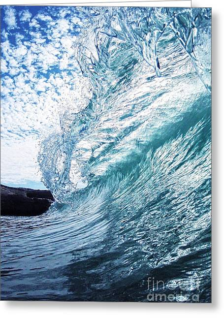 Santa Cruz Surfing Greeting Cards - Falling Glass Greeting Card by Paul Topp