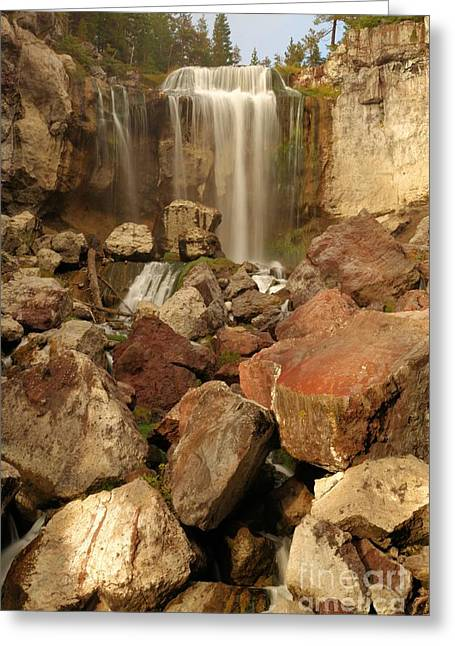 Newberry Greeting Cards - Falling In The Rocks Greeting Card by Adam Jewell