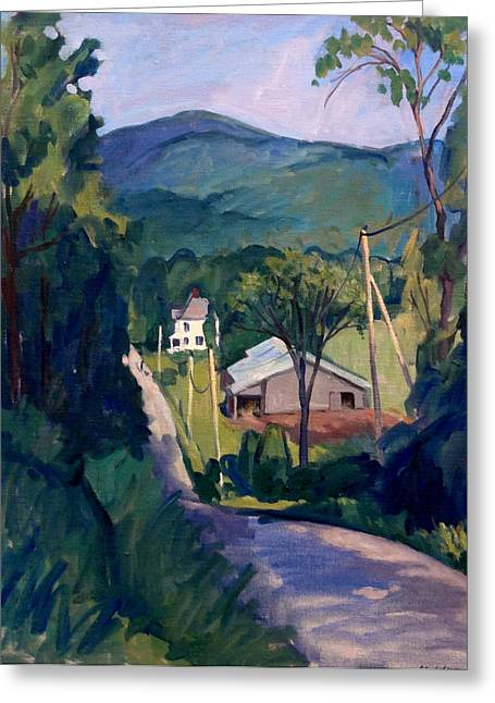 Thor Paintings Greeting Cards - Falling Light Berkshires Greeting Card by Thor Wickstrom