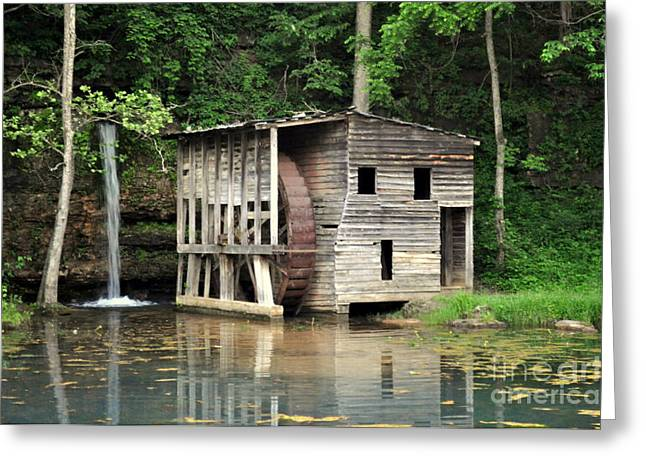 Spring Mill Greeting Cards - Falling Spring Mill 3 Greeting Card by Marty Koch