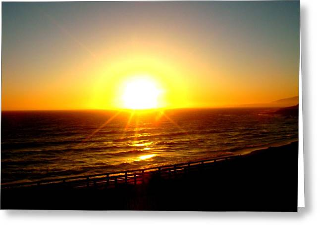 Cambria Greeting Cards - Falling Sun Greeting Card by Melissa KarVal