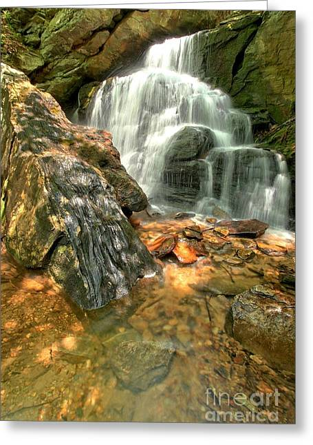 Ledge Greeting Cards - Falling Through The Rocks Greeting Card by Adam Jewell