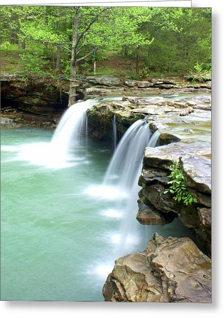 Falling Water Falls Greeting Cards - Falling Water Falls 5 Greeting Card by Marty Koch