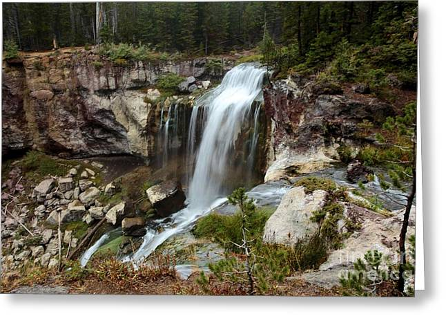 Newberry Greeting Cards - Falls At Newberry Greeting Card by Adam Jewell