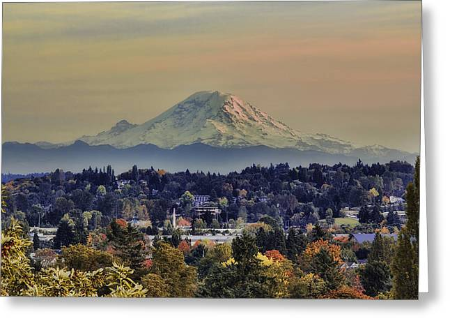 Late Fall Greeting Cards - Falls Gentle Touch Mt Rainer Washington State Greeting Card by James Heckt