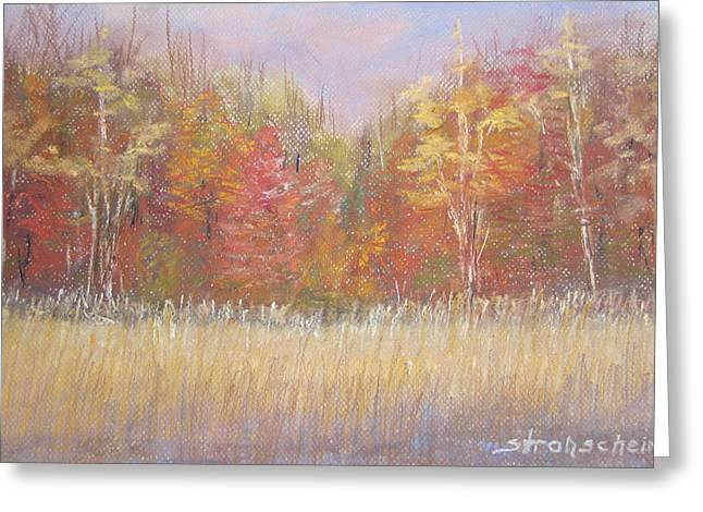 Fall Grass Pastels Greeting Cards - Falls Last Stand Greeting Card by Sandra Strohschein