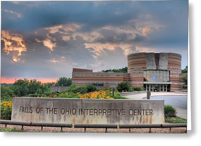Geographical Locations Greeting Cards - Falls Of The Ohio Interpretive Center I Greeting Card by Steven Ainsworth